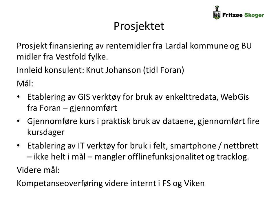 Prosjektet Prosjekt finansiering av rentemidler fra Lardal kommune og BU midler fra Vestfold fylke.