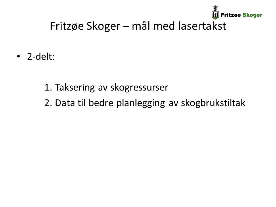 Fritzøe Skoger – mål med lasertakst