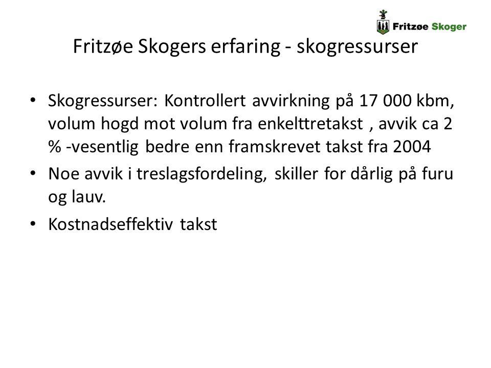 Fritzøe Skogers erfaring - skogressurser