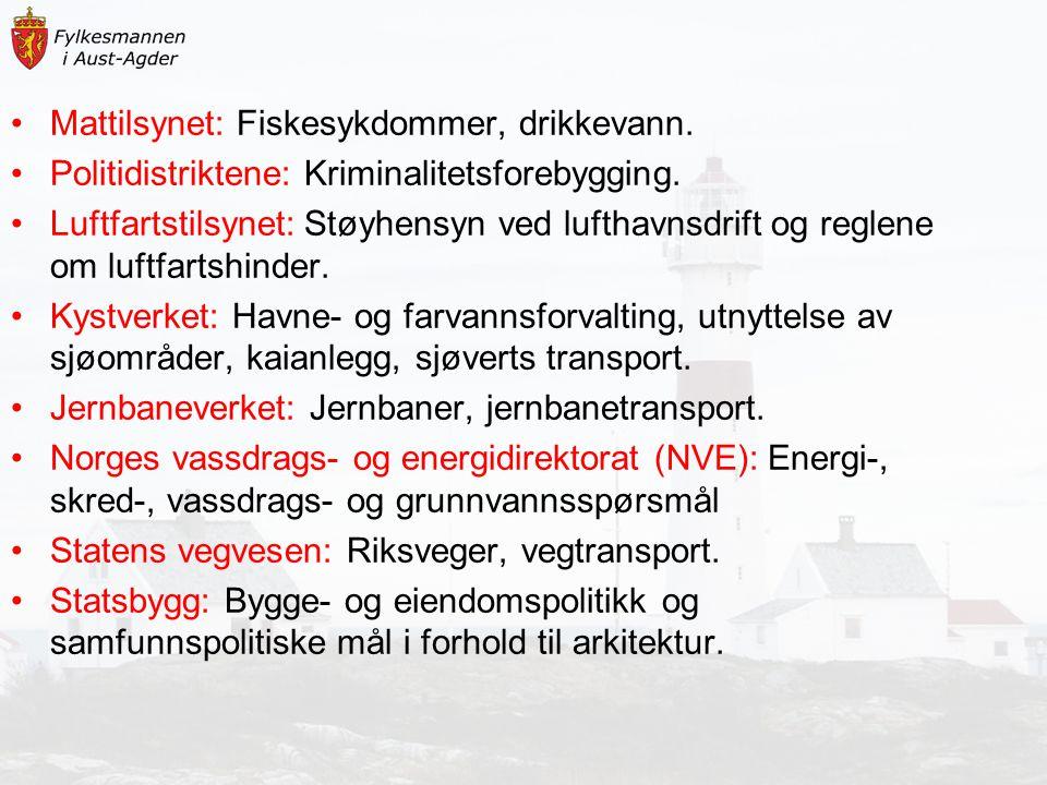 Mattilsynet: Fiskesykdommer, drikkevann.