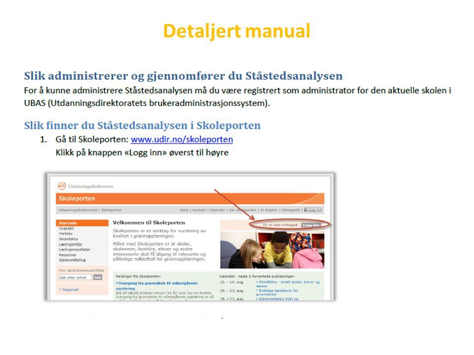 Detaljert manual