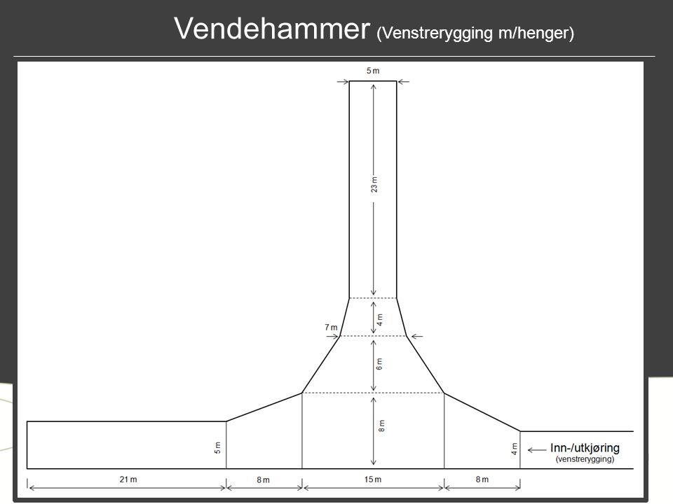 Vendehammer (Venstrerygging m/henger)