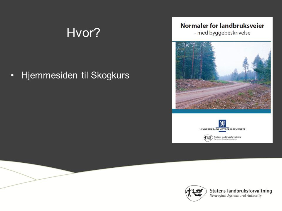 Hvor Hjemmesiden til Skogkurs