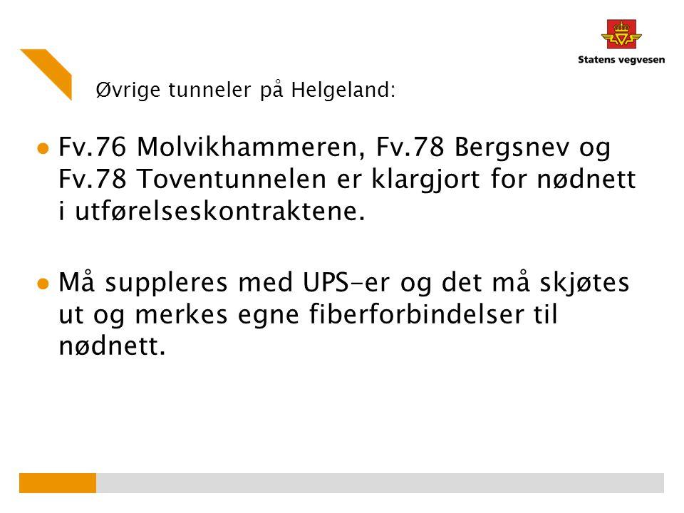 Øvrige tunneler på Helgeland:
