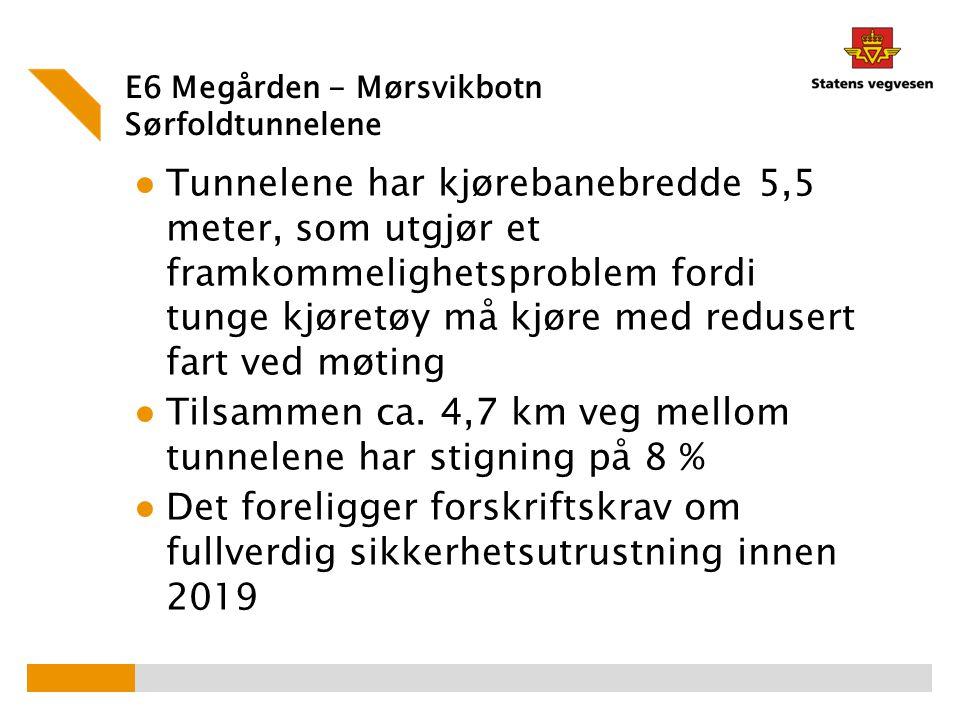 E6 Megården - Mørsvikbotn Sørfoldtunnelene