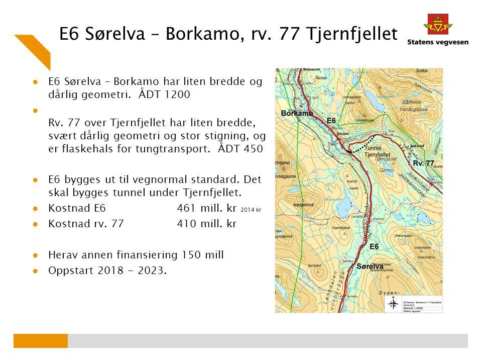 E6 Sørelva – Borkamo, rv. 77 Tjernfjellet