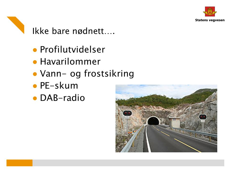 Profilutvidelser Havarilommer Vann- og frostsikring PE-skum DAB-radio