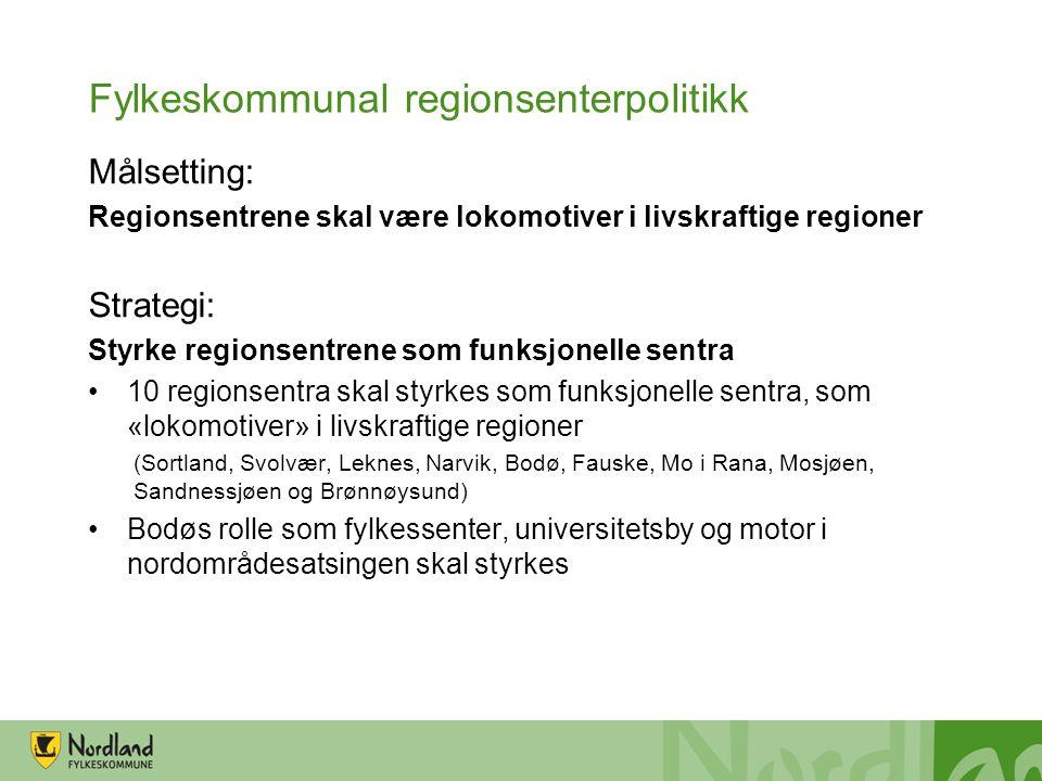 Fylkeskommunal regionsenterpolitikk