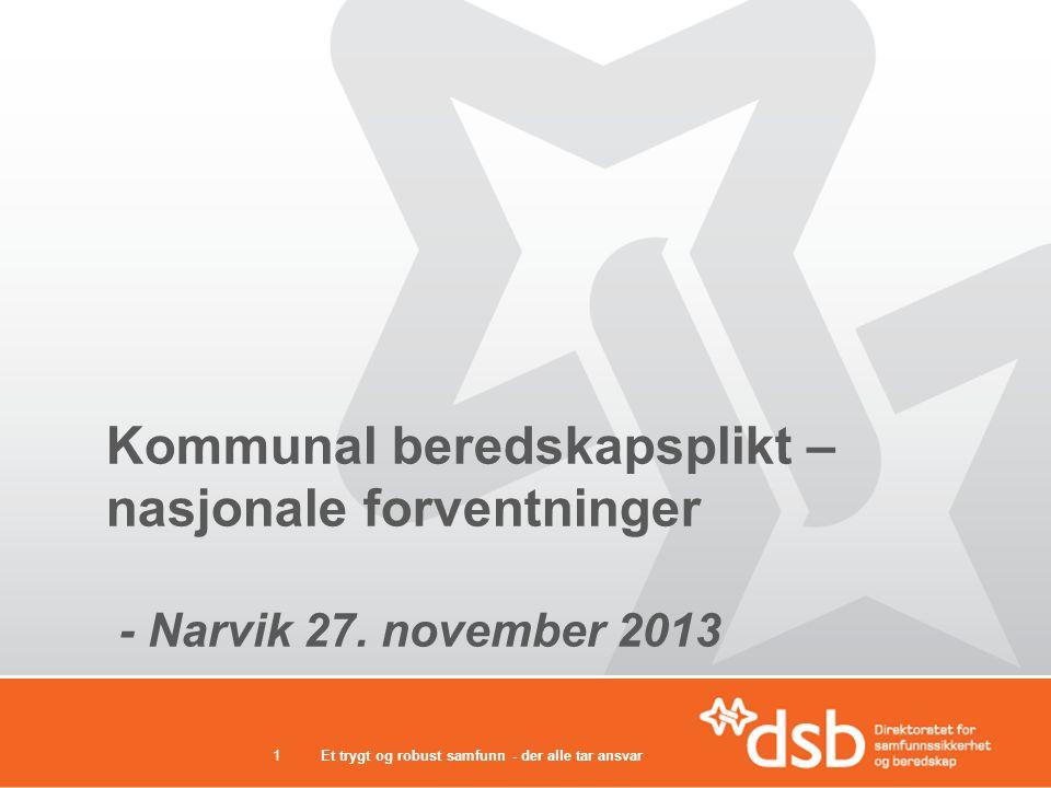 Kommunal beredskapsplikt – nasjonale forventninger - Narvik 27