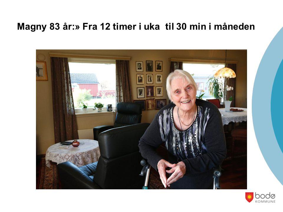 Magny 83 år:» Fra 12 timer i uka til 30 min i måneden