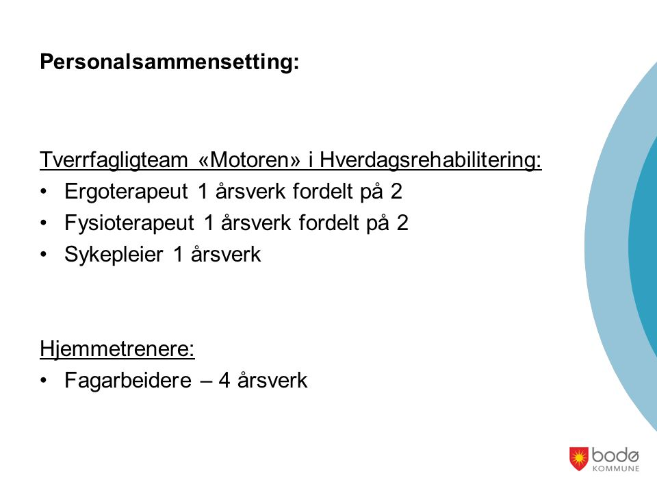 Personalsammensetting: