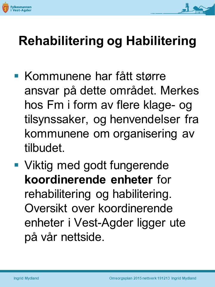Rehabilitering og Habilitering