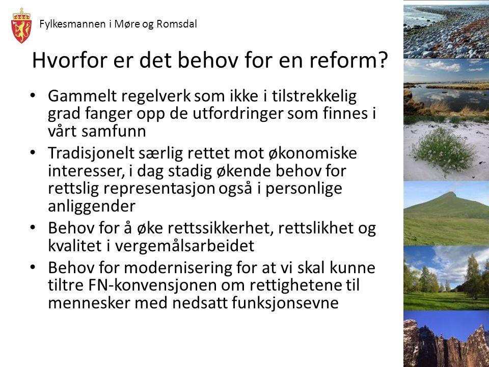 Hvorfor er det behov for en reform