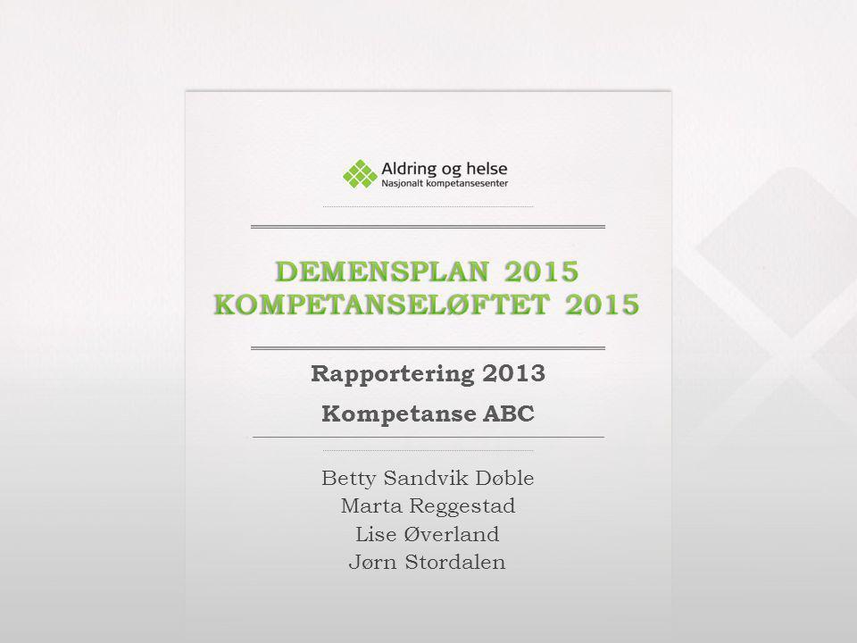 Demensplan 2015 kompetanseløftet 2015
