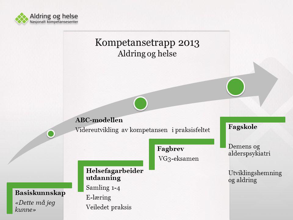 Kompetansetrapp 2013 Aldring og helse