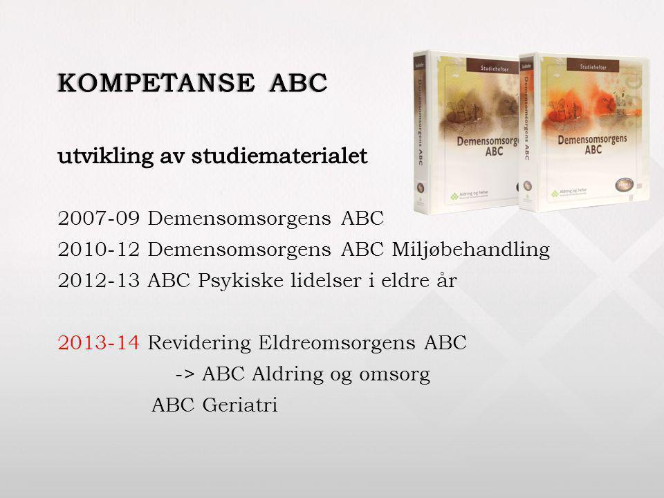 kompetanse ABC utvikling av studiematerialet