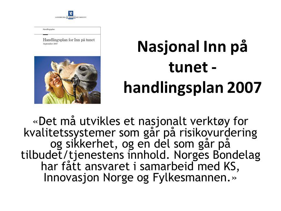 Nasjonal Inn på tunet -handlingsplan 2007