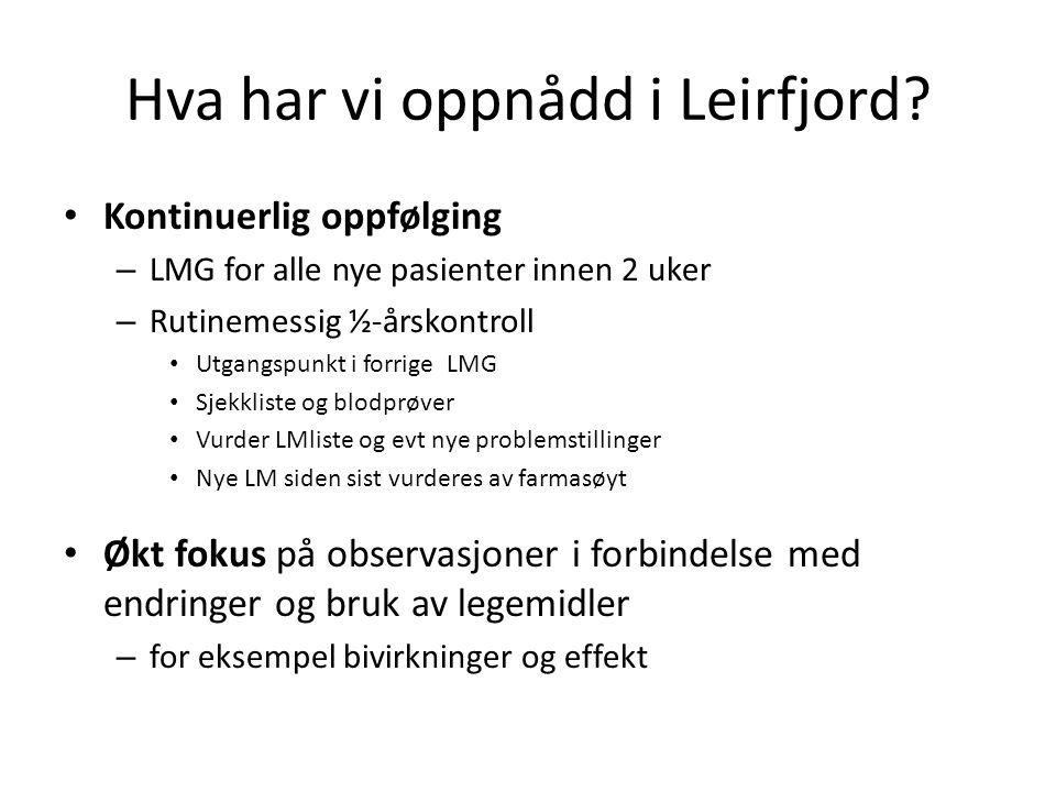Hva har vi oppnådd i Leirfjord