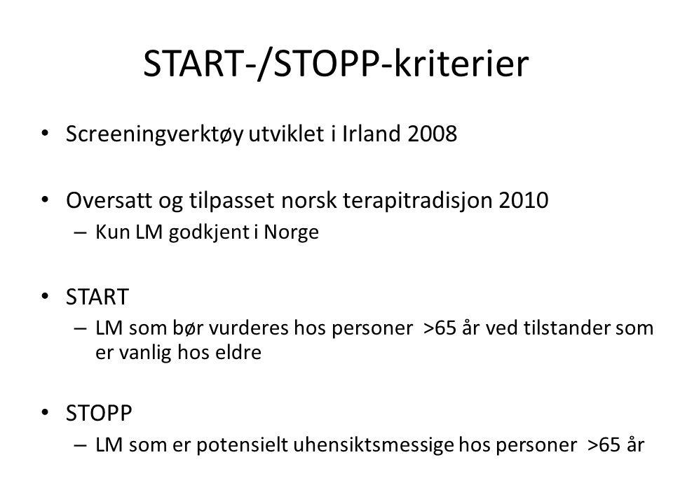 START-/STOPP-kriterier