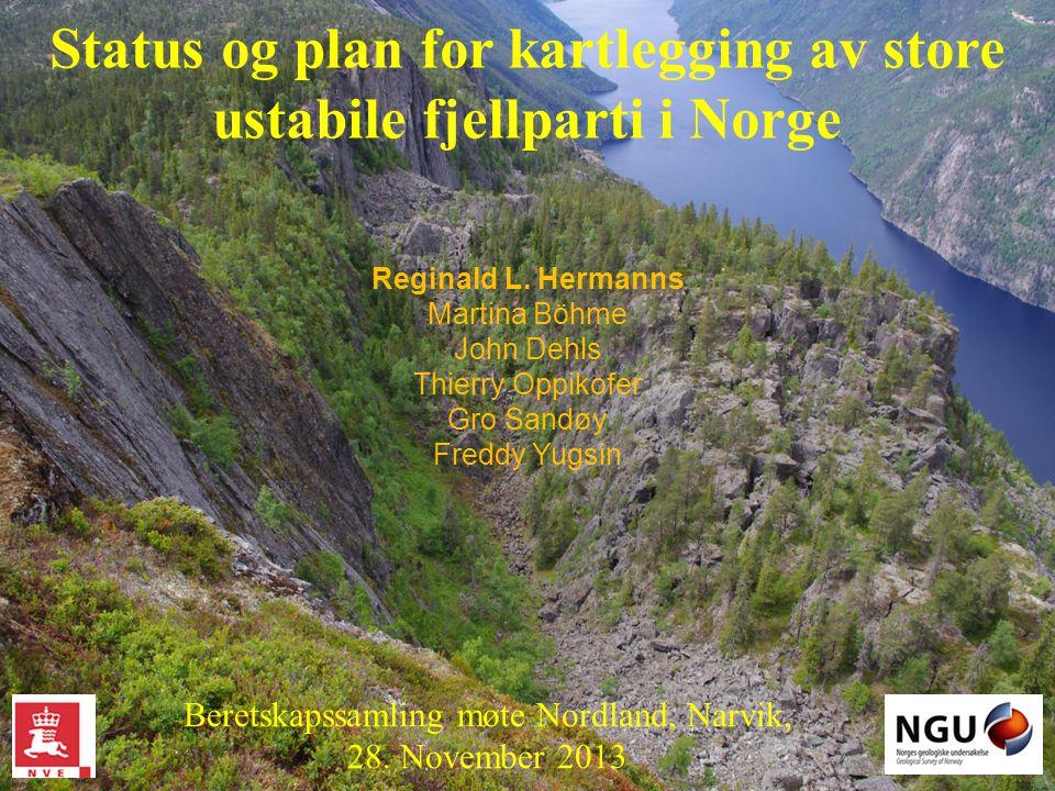 Status og plan for kartlegging av store ustabile fjellparti i Norge