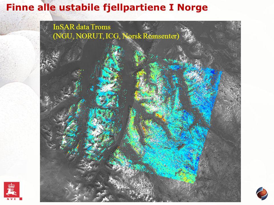 Finne alle ustabile fjellpartiene I Norge