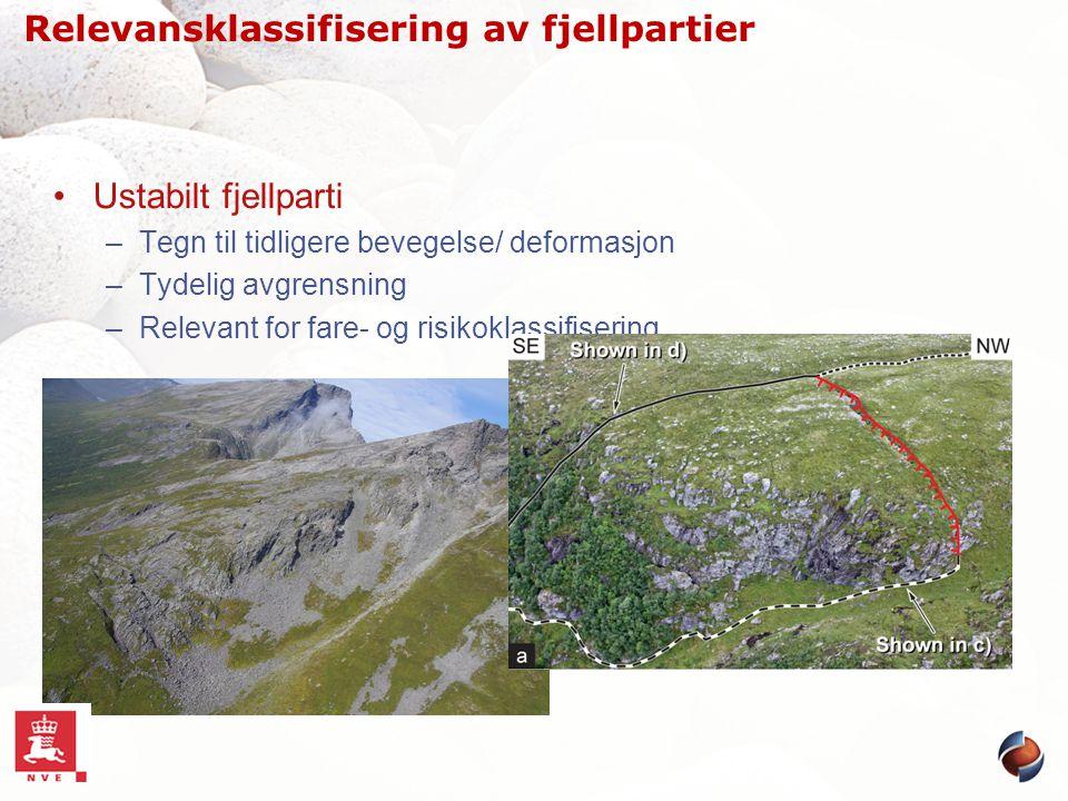 Relevansklassifisering av fjellpartier