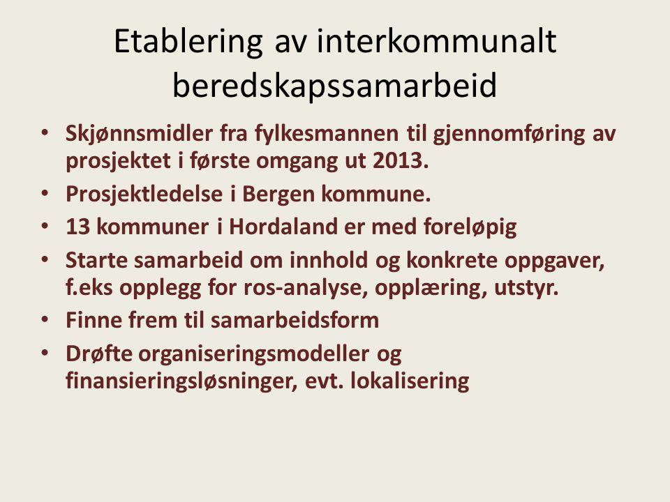 Etablering av interkommunalt beredskapssamarbeid