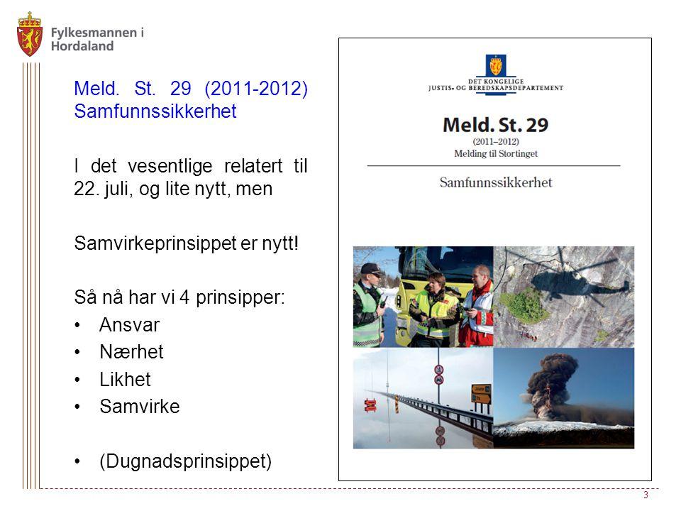 Meld. St. 29 (2011-2012) Samfunnssikkerhet
