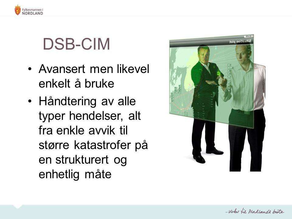 DSB-CIM Avansert men likevel enkelt å bruke