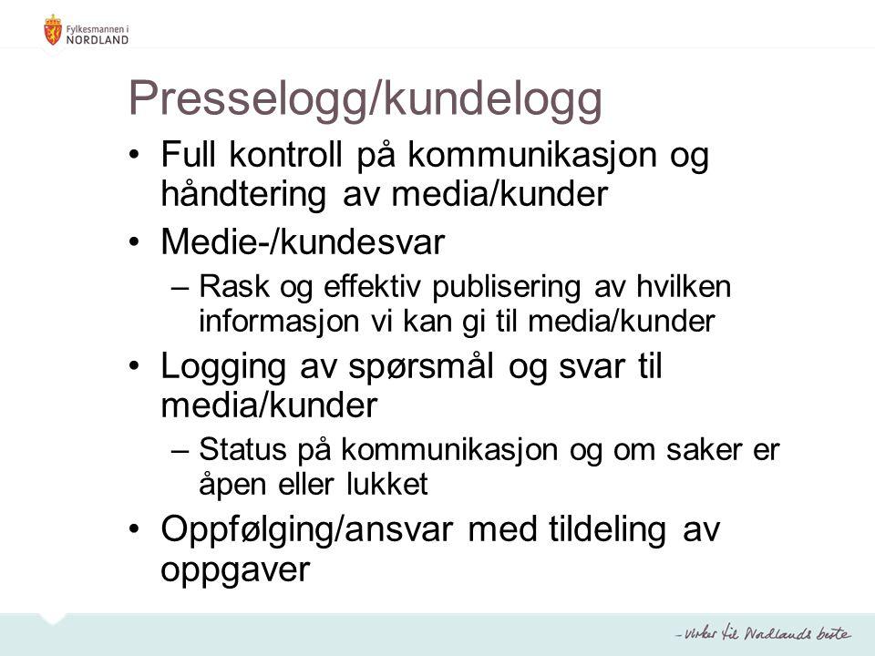Presselogg/kundelogg