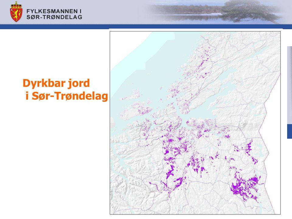 Dyrkbar jord i Sør-Trøndelag