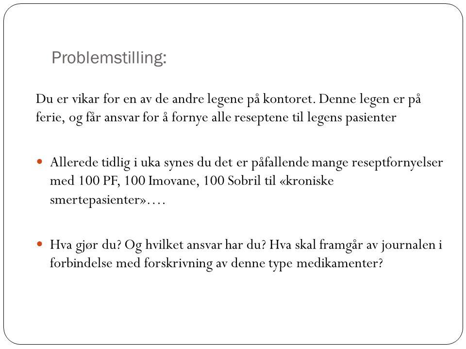 Problemstilling: