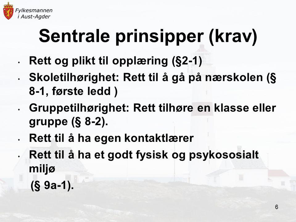 Sentrale prinsipper (krav)