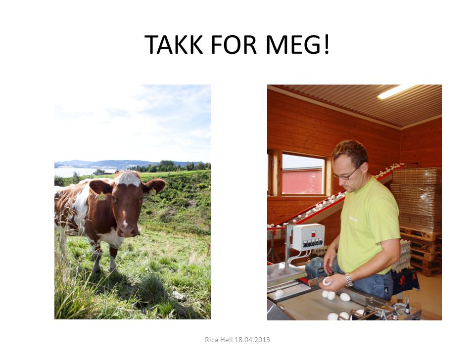 TAKK FOR MEG! Rica Hell 18.04.2013