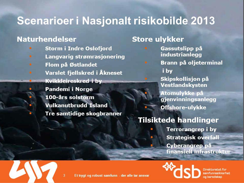Scenarioer i Nasjonalt risikobilde 2013