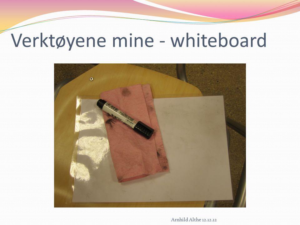 Verktøyene mine - whiteboard