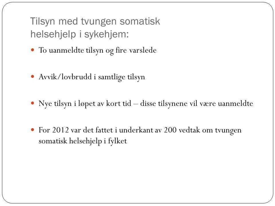 Tilsyn med tvungen somatisk helsehjelp i sykehjem: