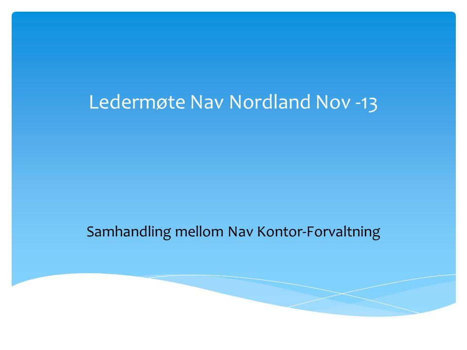 Ledermøte Nav Nordland Nov -13