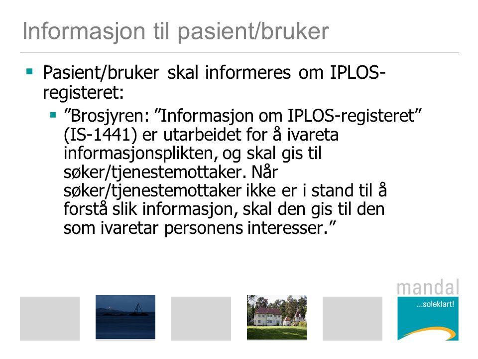 Informasjon til pasient/bruker