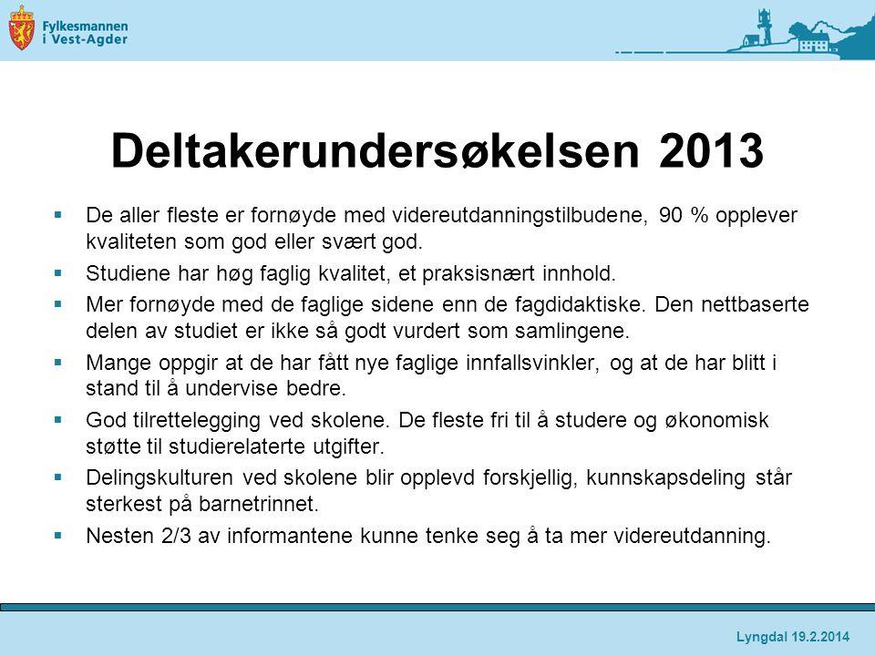 Deltakerundersøkelsen 2013