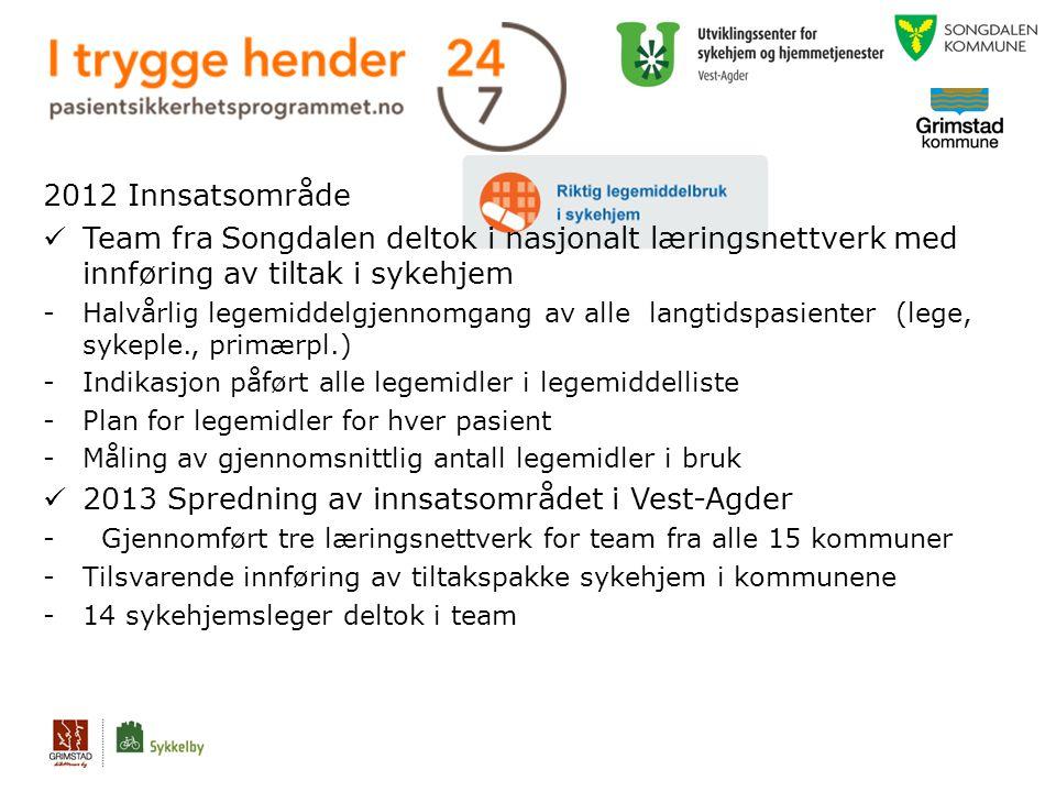 2013 Spredning av innsatsområdet i Vest-Agder