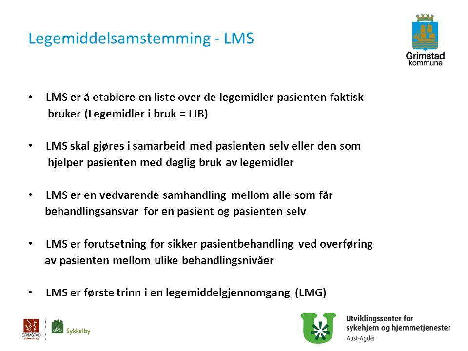 Legemiddelsamstemming - LMS