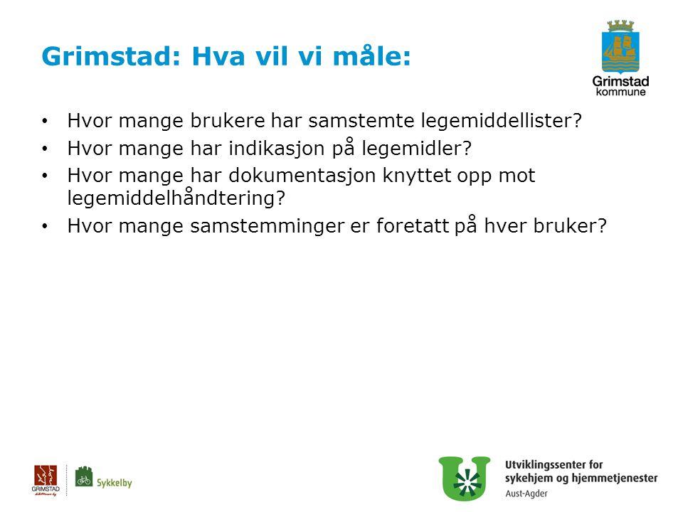 Grimstad: Hva vil vi måle: