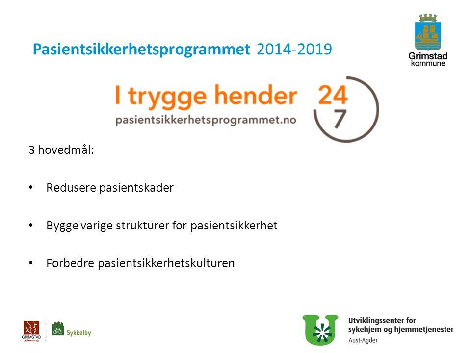 Pasientsikkerhetsprogrammet 2014-2019