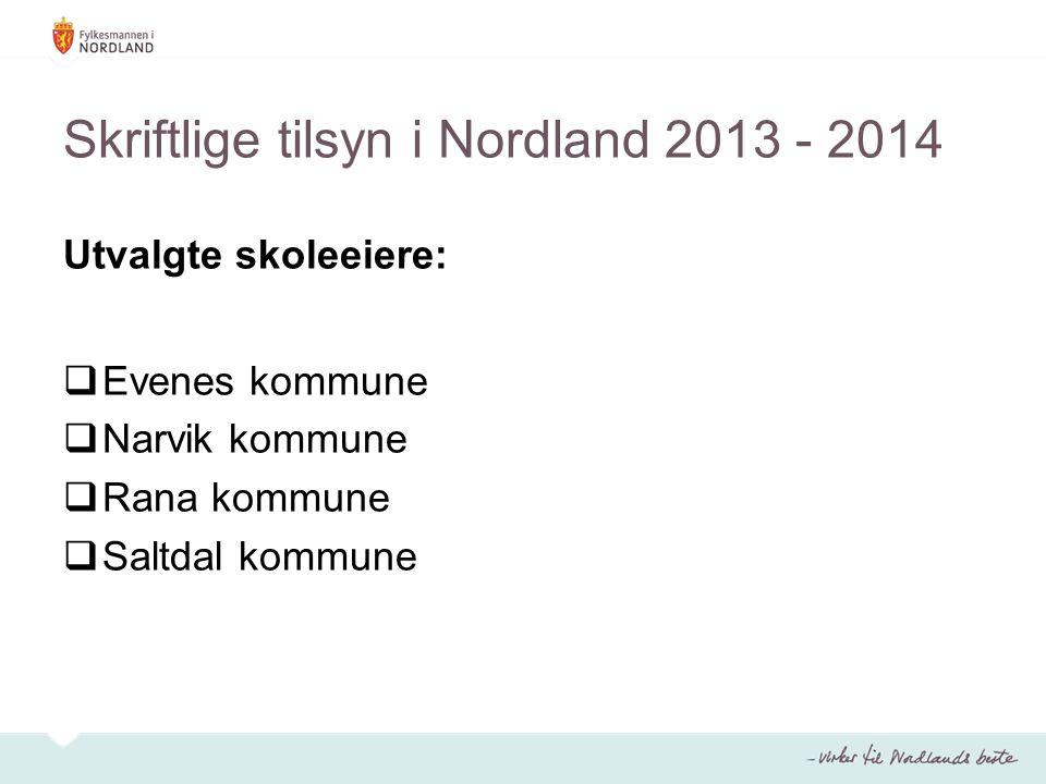Skriftlige tilsyn i Nordland 2013 - 2014