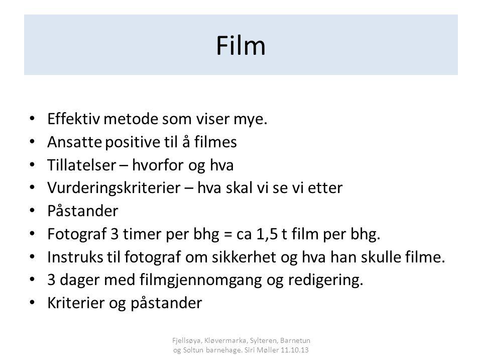 Film Effektiv metode som viser mye. Ansatte positive til å filmes
