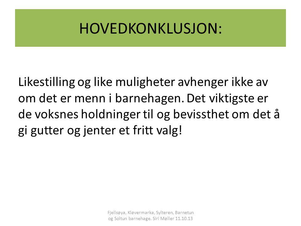 HOVEDKONKLUSJON:
