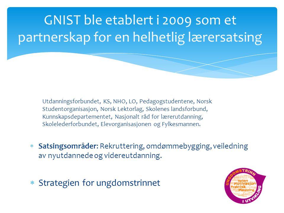 GNIST ble etablert i 2009 som et partnerskap for en helhetlig lærersatsing