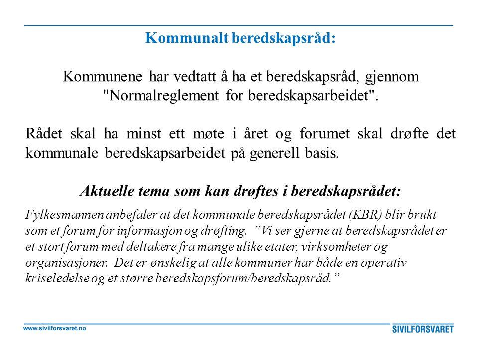 Kommunalt beredskapsråd: