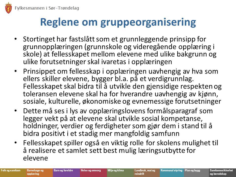 Reglene om gruppeorganisering